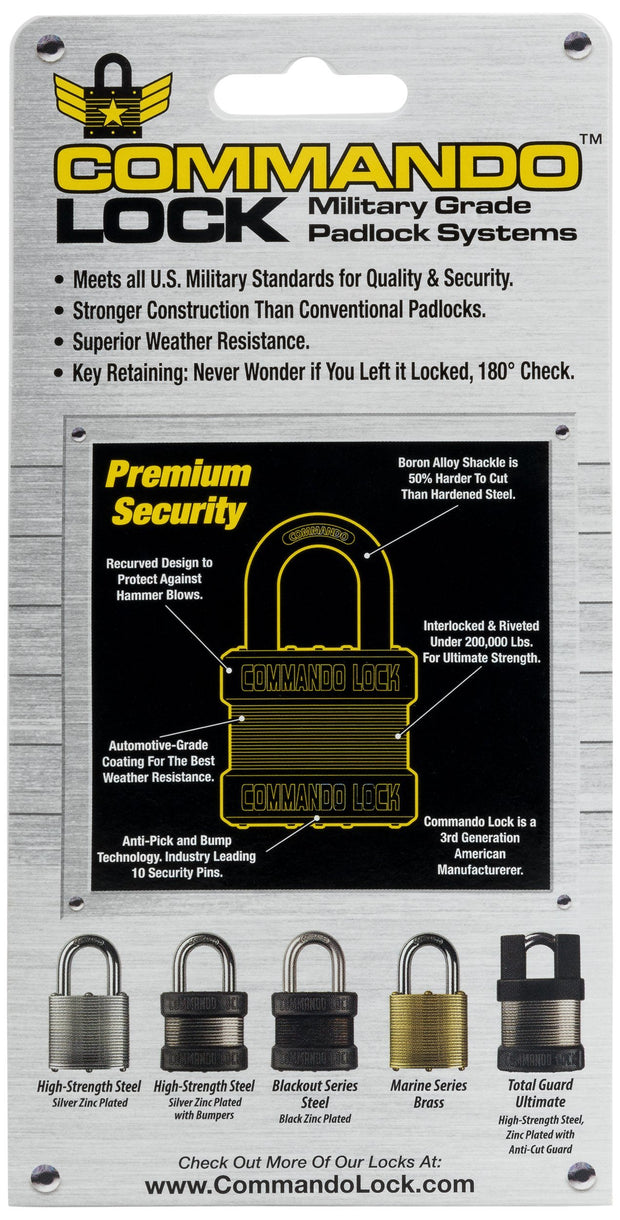 Commando Lock Packaging