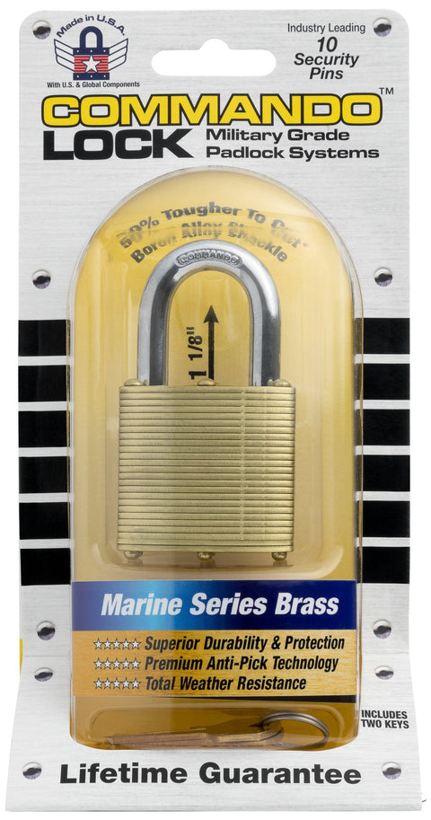 Commando Lock Brass Laminated Padlock