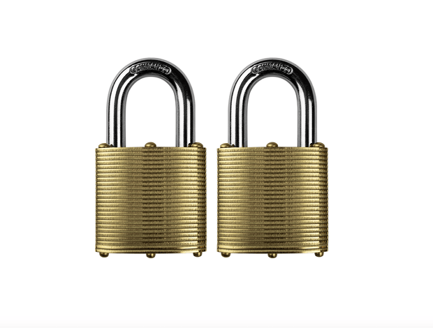 Commando Lock | Marine Series: Premium Brass Padlock | Military-Grade Commando Lock 2 Pack (Keyed Alike)