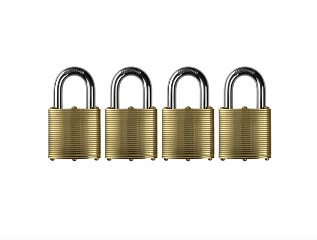 Commando Lock | Marine Series: Premium Brass Padlock | Military-Grade Commando Lock 4 Pack (Keyed Alike)