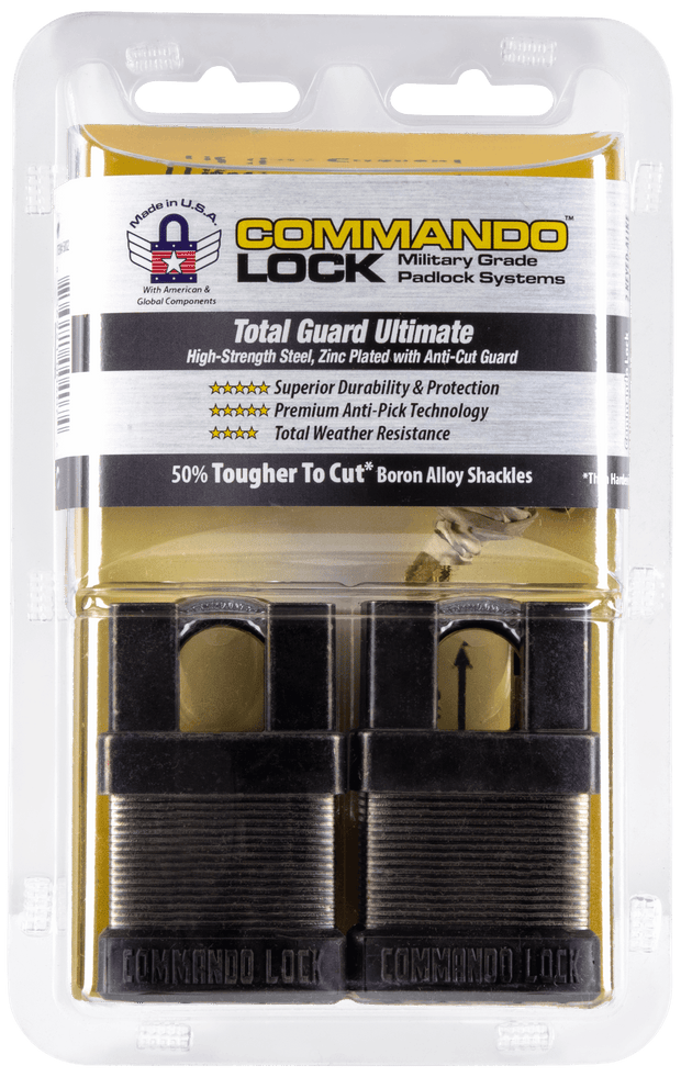 Commando Lock | Total Guard Cut Proof | iCHANGE Shrouded Padlock Commando Lock