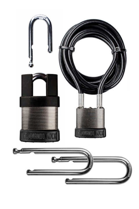 iCHANGE PRO KIT | 4-IN-1 Padlock System | 2-Lock, 4-Shkl, 8ft. Cbl