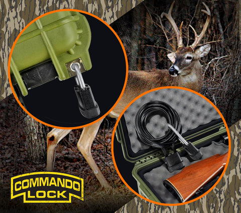 Commando Lock Outdoor Padlocks, Cable Lock, Case Lock, Carbon Steel Lock, Blackout, Peacemaker
