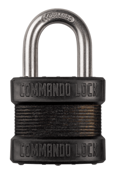 Blackout Laminated Steel Padlock | Military-Grade | Pelican Case Locks Commando Lock