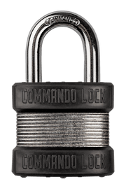 CASE 12ea: Zinc-Plated Steel Padlock | 2 Bumper | Military Grade Commando Lock