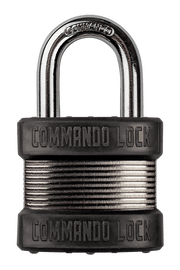 Commando Lock Heavy Duty Padlock | 2 Bumper High Security | Storage Padlock Commando Lock
