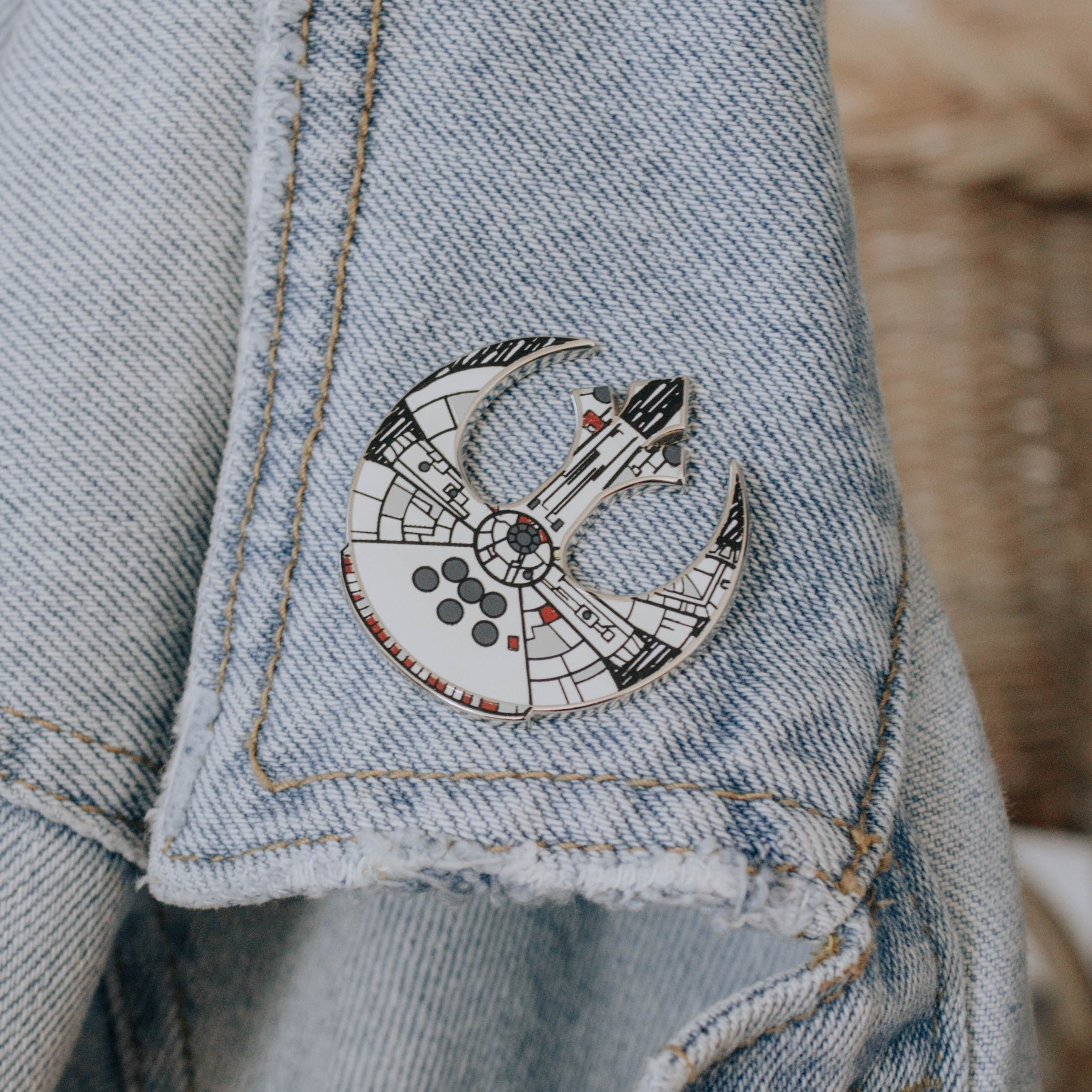 Rebel Falcon Enamel Pin
