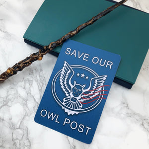 Save Our Owl Post Postcard (2nds)