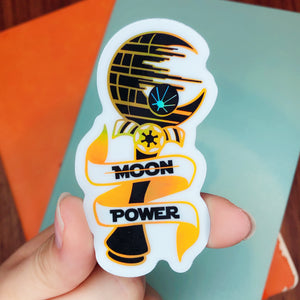 No Moon Power Holographic Sticker
