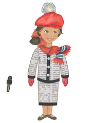 paper people play miss newspaper paper doll costume