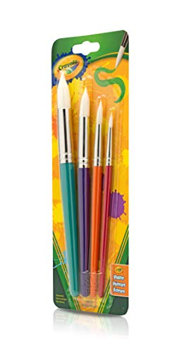 Crayola Kids Paint Brushes, 4 Count, Ages 3, 4, 5, 6