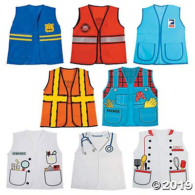 Community Helpers Kids Vests (8 Pieces)