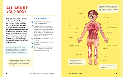 Human Body Activity Book for Kids: Grades K-3