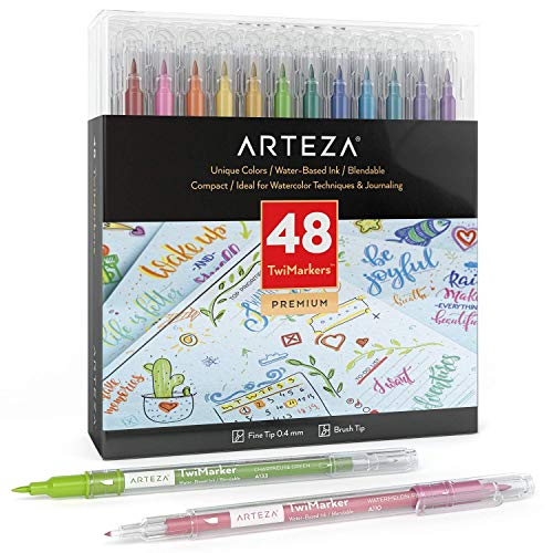 ARTEZA TwiMarkers Dual Tip Sketch Markers (48)