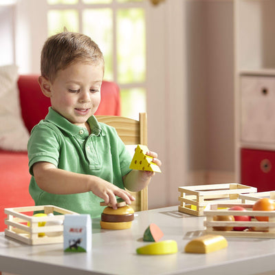 Melissa & Doug Food Groups - Wooden Play Food