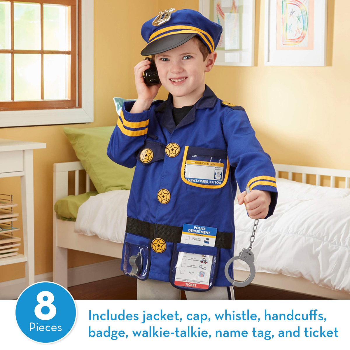 Melissa & Doug Police Officer Role-Play Costume Set