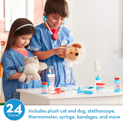 Melissa & Doug Vet Play Set - The Original (24 Pieces)