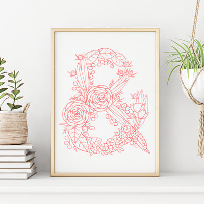 & (Floral Monogram) Digital Download