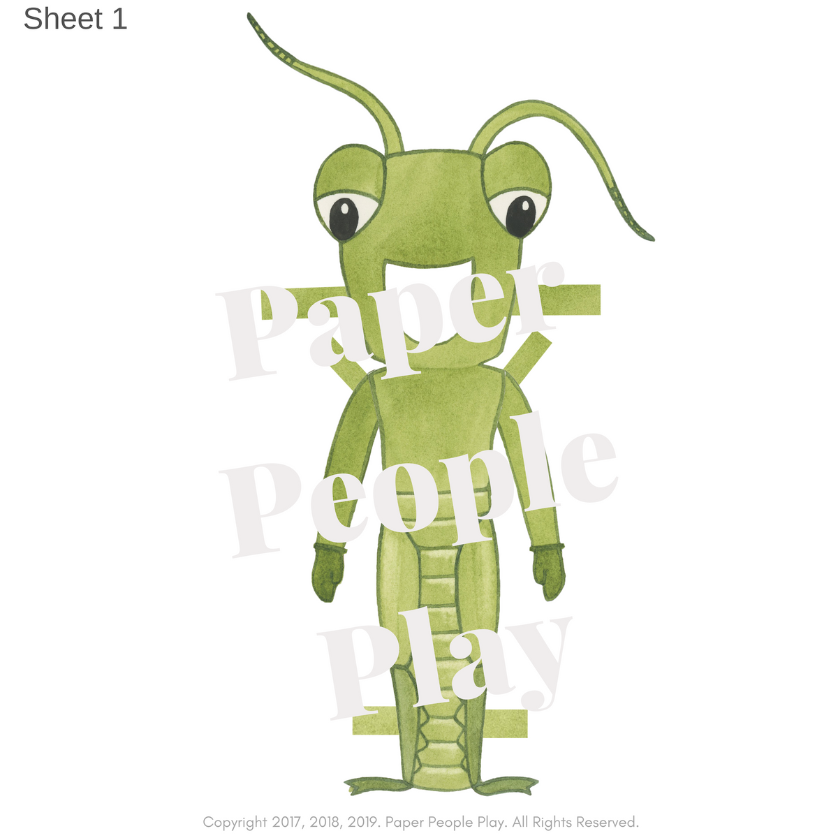 """The Ant & The Grasshopper"" GRASSHOPPER Costume"