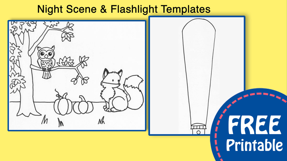 Night Scene For Kids Printable