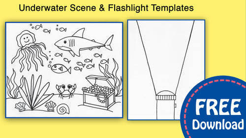 Underwater Scene For Kids Template