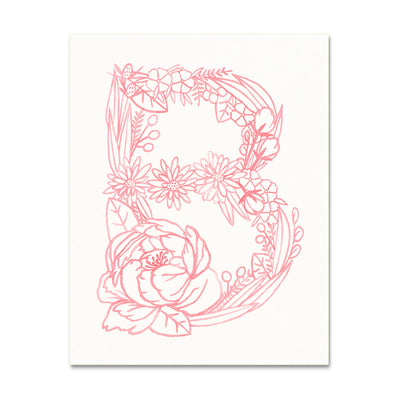 B (Floral Monogram) Digital Download