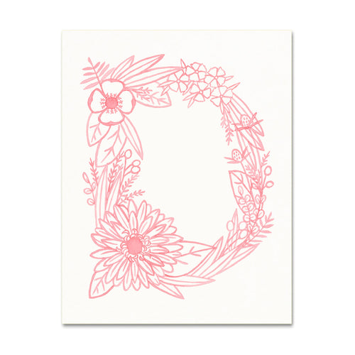 D (Floral Monogram) Digital Download