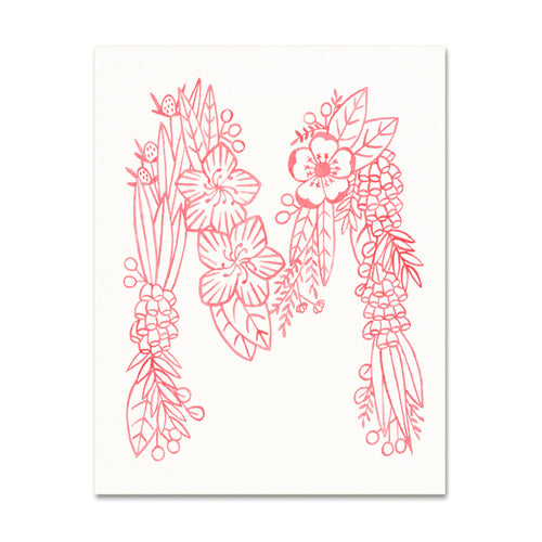 M (Floral Monogram) Digital Download