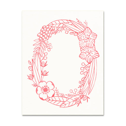O (Floral Monogram) Digital Download