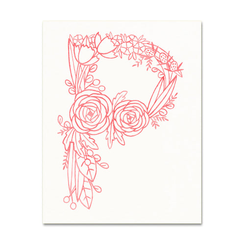 P (Floral Monogram) Digital Download