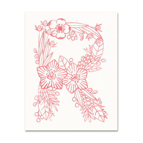 R (Floral Monogram) Digital Download