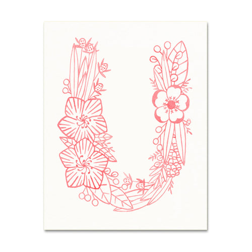U (Floral Monogram) Digital Download