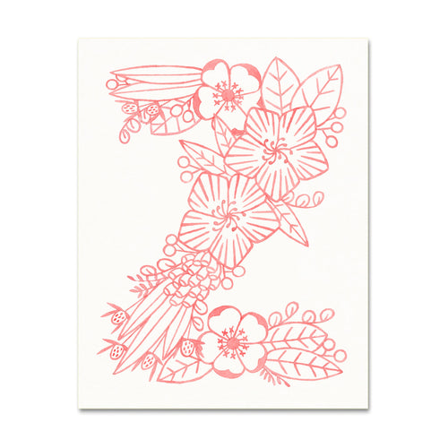 Z (Floral Monogram) Digital Download