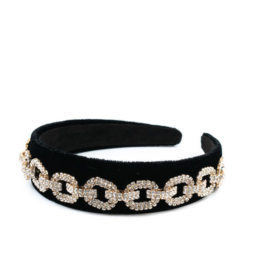 Diamond Chain Velvet Headband