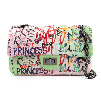 Graffiti Quilted Bag