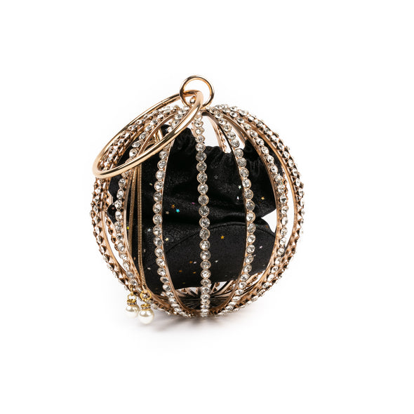 Diamond Studded Globe Evening Bag