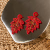Cathleen Leafy Shape and stone Earrings