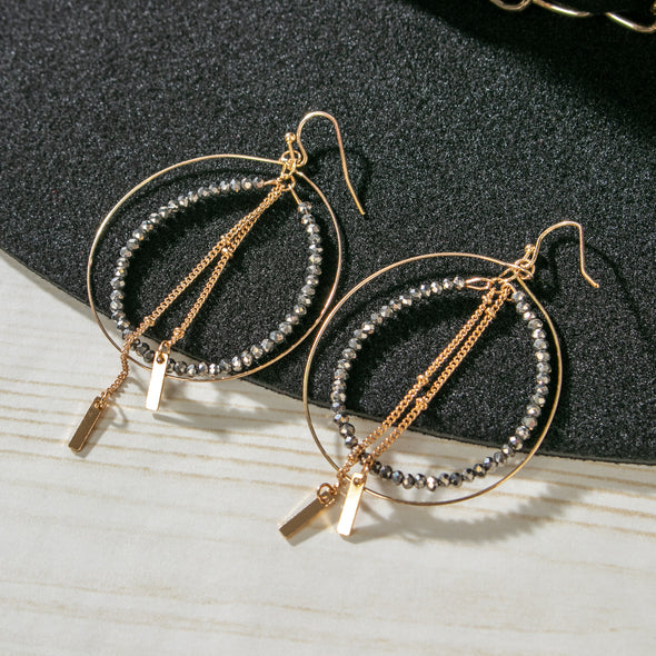 Brittney Hoop Earrings