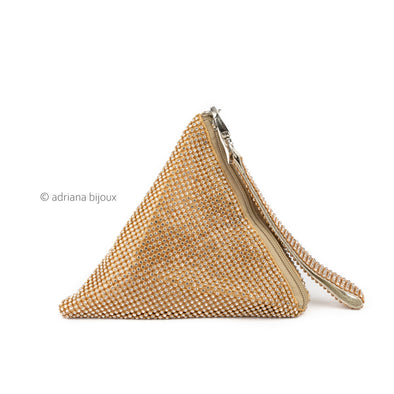 Rhinestone Triangle Wrist Bag