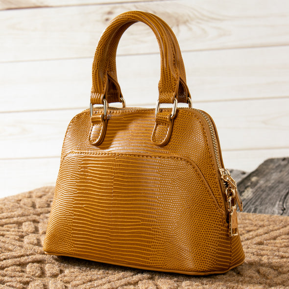 Lana Crocodile Faux Leather Handbag
