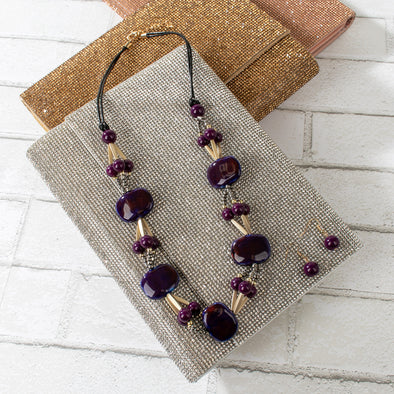 Gabby Ceramic Beads Necklace Set