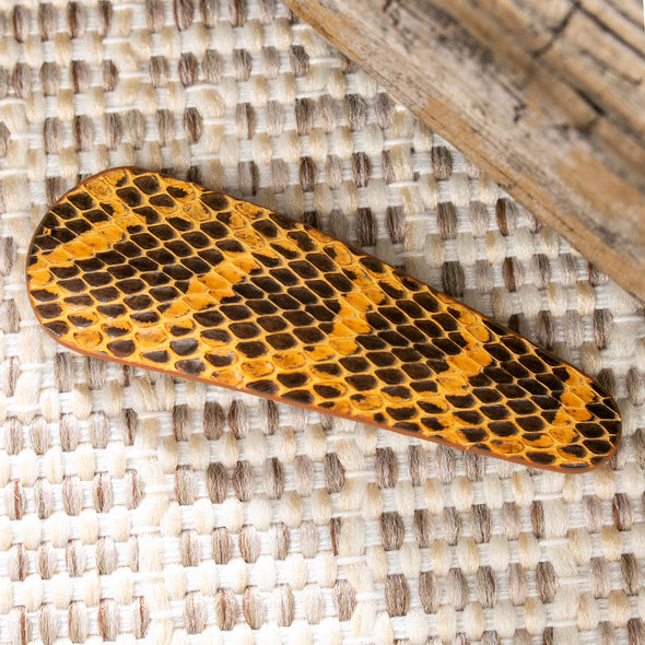 Galissia Snake Print Hair Clips
