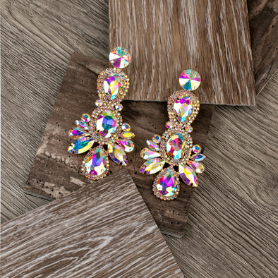 Aggie Fashionable Rhinestone Earrings