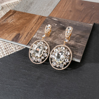 Addie Rhinestones Clip on Earrings