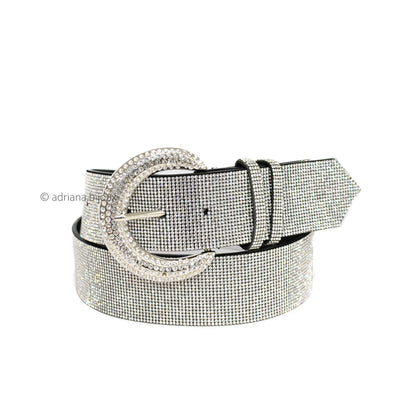 Plus Size Rhinestone Bling Belt