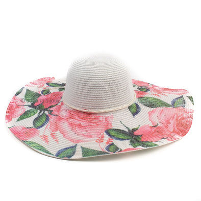 Rose Printed Sun Hat