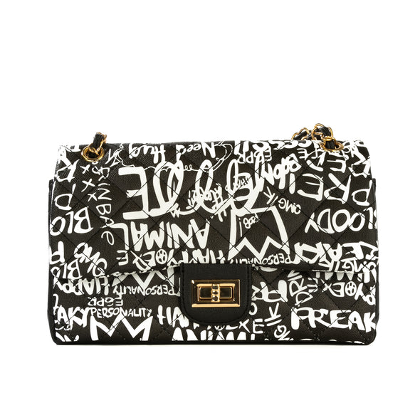 Graffiti Quilted Medium Bag