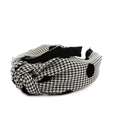 Houndstooth Knotted Headband