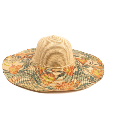 Flower Printed Sun Hat