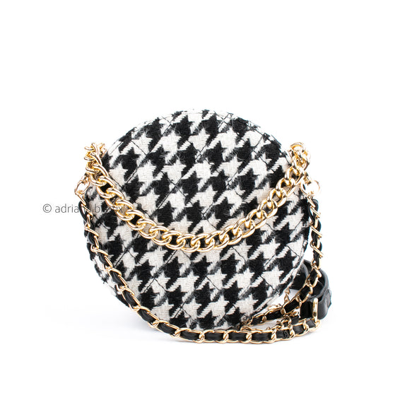 Houndstooth Round Bag